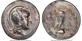 ATTICA. Athens. 2nd-1st centuries BC. AR tetradrachm (35mm, 15.87 gm, 12h). NGC Choice XF 3/5 - 2/5, scratches. New Style coinage, ca. 157/6 BC, Pynd-...