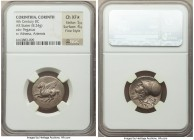 CORINTHIA. Corinth. Ca. 4th century BC. AR stater (21mm, 8.24 gm, 1h). NGC Choice XF S 5/5 - 4/5, Fine Style. Ca. 375-345 BC. Pegasus flying left, Ϙ b...