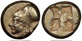 IONIA. Phocaea. Ca. 521-478 BC. EL sixth-stater or hecte (11mm, 2.58 gm). NGC Choice XF 4/5 - 4/5. Head of Athena left, of archaic style, wearing Cori...