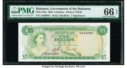 Bahamas Bahamas Government 5 Dollars 1965 Pick 20a PMG Gem Uncirculated 66 EPQ.   HID09801242017  © 2020 Heritage Auctions | All Rights Reserved