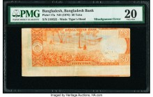 Bangladesh Bangladesh Bank 50 Taka ND (1976) Pick 17a Misalignment Error PMG Very Fine 20. Repaired.   HID09801242017  © 2020 Heritage Auctions | All ...