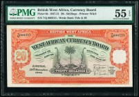British West Africa West African Currency Board 20 Shillings 29.11.1948 Pick 8b PMG About Uncirculated 55 EPQ.   HID09801242017  © 2020 Heritage Aucti...