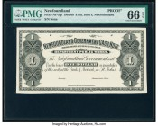 Canada St. John's NF- Newfoundland Government Cash Note $1 1901-09 Pick Newfoundland A7 NF-5FP Proof PMG Gem Uncirculated 66 EPQ.   HID09801242017  © ...