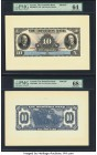 Canada Toronto, ON- Dominion Bank $10 1.2.1931 Pick S1029 Ch.# 220-24-06FP; 220-24-06BP Front and Back Proofs PMG Choice Uncirculated 64; Superb Gem U...