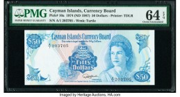 Cayman Islands Currency Board 50 Dollars 1974 (ND 1987) Pick 10a PMG Choice Uncirculated 64 EPQ.   HID09801242017  © 2020 Heritage Auctions | All Righ...
