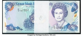 Cayman Islands Monetary Authority 1 Dollar 1998 Pick 21a Pack of 100 Crisp Uncirculated.   HID09801242017  © 2020 Heritage Auctions | All Rights Reser...