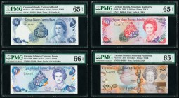 Cayman Islands Currency Board; Monetary Agency 1; 1; 10; 25 Dollar 1971 (ND 1972); 1996; 2005; 2010 Pick 1a; 16b; 35a; 41a Four Examples PMG Gem Uncir...