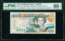 East Caribbean States Central Bank, Anguilla 100 Dollars ND (2000) Pick 41u PMG Gem Uncirculated 66 EPQ.   HID09801242017  © 2020 Heritage Auctions | ...