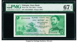 Ethiopia State Bank of Ethiopia 1 Dollar ND (1961) Pick 18a PMG Superb Gem Unc 67 EPQ.   HID09801242017  © 2020 Heritage Auctions | All Rights Reserve...
