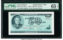 Faeroe Islands Foroyar 50 Kronur 1967 Pick 16a* Replacement PMG Gem Uncirculated 65 EPQ.   HID09801242017  © 2020 Heritage Auctions | All Rights Reser...