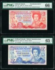 Falkland Islands Government of the Falkland Islands 5; 1 Pounds 1983; 1984 Pick 12a; 13 Two Examples PMG Gem Uncirculated 66 EPQ; Gem Uncirculated 65 ...