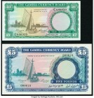 Gambia The Gambia Currency Board 10 Shillings; 5 Pounds ND (1965-70) Pick 1a; 3a Crisp Uncirculated.   HID09801242017  © 2020 Heritage Auctions | All ...