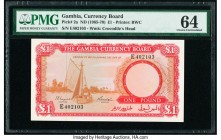 Gambia The Gambia Currency Board 1 Pound ND (1965-70) Pick 2a PMG Choice Uncirculated 64.   HID09801242017  © 2020 Heritage Auctions | All Rights Rese...