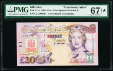Gibraltar Government of Gibraltar 20 Pounds 4.8.2004 Pick 31a Commemorative PMG Superb Gem Unc 67 EPQ S.   HID09801242017  © 2020 Heritage Auctions | ...