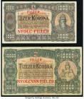 Hungary Ministry of Finance 1,000; 10,000 Korona 1923 Pick 75b; 77b Very Fine.   HID09801242017  © 2020 Heritage Auctions | All Rights Reserved