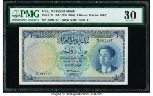 Iraq National Bank of Iraq 1 Dinar 1947 (ND 1950) Pick 29 PMG Very Fine 30.   HID09801242017  © 2020 Heritage Auctions | All Rights Reserved