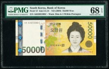 South Korea Bank of Korea 50,000 Won ND (2009) Pick 57 PMG Superb Gem Unc 68 EPQ.   HID09801242017  © 2020 Heritage Auctions | All Rights Reserved