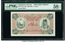 Iran Kingdom of Persia, Imperial Bank 1 Toman ND (1890-1923) Pick 1sp Specimen Proof PMG Choice About Unc 58 EPQ. A very nice Specimen Proof from the ...