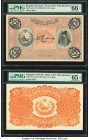 Iran Kingdom of Persia, Imperial Bank 25 Tomans ND (1890-23) Picks 6cts1; 6cts2 Front and Back Color Trial Specimen PMG Gem Uncirculated 66 EPQ; Gem U...