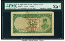 Iran Kingdom of Persia, Imperial Bank 2 Tomans 19.11.1924 Teheran Pick 12 PMG Very Fine 25 Net. The 2 Toman notes are among the most beautiful of the ...