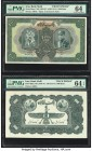 Iran Bank Melli 1000 Rials ND (1934-35 / AH1313-14) Pick 30ap1; 30p2 Face and Back Proofs PMG Graded Choice Uncirculated 64; Choice Uncirculated 64 EP...