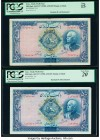 Iran Bank Melli 500 Rials ND (1938) / AH1320; AH1321 Pick 37d; 37e PCGS Fine 15; Very Fine 20 . A variety of 500 Rials notes from the 1937-38 issue wi...