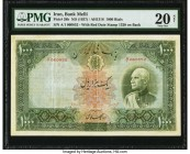 Iran Bank Melli 1000 Rials ND (1937) / AH1316 Pick 38b PMG Very Fine 20 Net. At the time of cataloging, only four of these highest denomination types ...