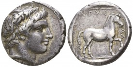 Kings of Macedon. Aigai. Archelaos  419-399 BC. Stater AR