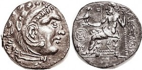 -- Drachm, Celtic imitation, Eastern Europe, at left M monogram in circle above grape bunch, OTA 575-5, EF, nrly centered, sharply struck & well derai...