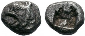 IONIA, Phokaia. Circa 6th-5th Century BC. AR Hemidrachm or Diobol . Head of griffin left / Rough incuse square. SNG Copenhagen -; cf. SNG von Aulock 2...
