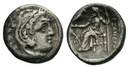 KINGS of MACEDON.Alexander III the Great (336-323 BC). AR drachm.  Condition: Very Fine  Weight: 4.08 gr Diameter:16 mm