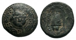 KINGS of MACEDON.Alexander III the Great (336-323 BC). AE Bronze.  Condition: Very Fine  Weight: 4.28 gr Diameter: 16 mm