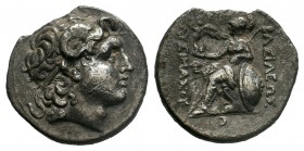 KINGS of THRACE.Lysimachos (305-281 BC). Lampsakos mint. AR Tetradrachm.  Condition: Very Fine  Weight: 17.47 gr Diameter: 30 mm