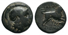 KINGS of THRACE. Lysimachia. Lysimachos (305-281 BC). AE Bronze.  Condition: Very Fine  Weight: 4.61 gr Diameter: 18 mm
