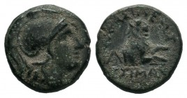 KINGS of THRACE. Lysimachia. Lysimachos (305-281 BC). AE Bronze.  Condition: Very Fine  Weight: 2.20 gr Diameter: 14 mm