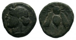 IONIA. Ephesos.(circa 380-320 BC). AE Bronze.  Condition: Very Fine  Weight: 1.12 gr Diameter: 10 mm