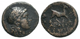 AEOLIS.Aigai. (circa 200-0 BC).AE Bronze.  Condition: Very Fine  Weight: 3.37 gr Diameter: 18 mm