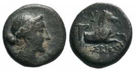 AEOLIS. Kyme . (circa 320-250 BC). AE Bronze.  Condition: Very Fine  Weight: 3.02 gr Diameter: 14 mm