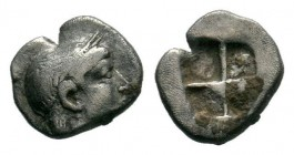 Greek Uncertain. 4th century B.C. AR obol  Condition: Very Fine  Weight: 0.27 gr Diameter: 7 mm