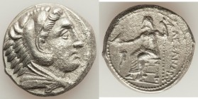 MACEDONIAN KINGDOM. Alexander III the Great (336-323 BC). AR tetradrachm (26mm, 16.23 gm, 7h). XF, porosity. Posthumous issue of Amphipolis, by Philip...