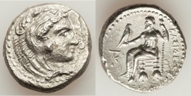 MACEDONIAN KINGDOM. Alexander III the Great (336-323 BC). AR tetradrachm (26mm, 16.70 gm, 12h). Choice XF, porosity. Late lifetime to early posthumous...