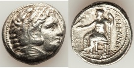 MACEDONIAN KINGDOM. Alexander III the Great (336-323 BC). AR tetradrachm (25mm, 16.46 gm, 10h). Choice VF, brushed. Lifetime issue of 'Amphipolis', ca...