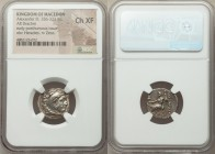 MACEDONIAN KINGDOM. Alexander III the Great (336-323 BC). AR drachm (18mm, 12h). NGC Choice XF. Posthumous issue of Mylasa, ca. 310-300 BC. Head of He...