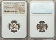 MACEDONIAN KINGDOM. Alexander III the Great (336-323 BC). AR drachm (18mm, 11h). NGC Choice XF. Posthumous issue of Abydus, ca. 310-301 BC. Head of He...