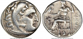 MACEDONIAN KINGDOM. Alexander III the Great (336-323 BC). AR drachm (18mm, 12h). NGC VF. Early posthumous issue of Colophon, 310-301 BC. Head of Herac...