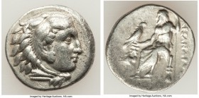 MACEDONIAN KINGDOM. Alexander III the Great (336-323 BC). AR drachm (18mm, 4.18 gm, 3h). VF. Late lifetime issue of Abydus(?), ca. 328-323 BC. Head of...