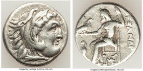 MACEDONIAN KINGDOM. Alexander III the Great (336-323 BC). AR drachm (17mm, 4.15 gm, 6h). VF. Posthumous issue of Lampsacus, ca. 310-301 BC. Head of He...