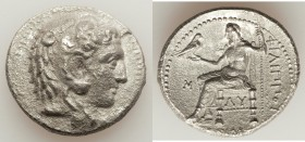MACEDONIAN KINGDOM. Philip III Arrhidaeus (323-317 BC). AR tetradrachm (27mm, 16.35 gm, 12h). Choice XF, porosity. Babylon. Head of Heracles right, we...
