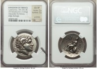 THRACIAN KINGDOM. Lysimachus (305-281 BC). AR tetradrachm (30mm, 16.83 gm, 1h). NGC Choice VF 5/5 - 2/5, scratches, edge damage. Uncertain Thracian mi...