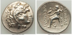 THRACIAN KINGDOM. Cavarus. Ca. 225-215 BC. AR tetradrachm (31mm, 16.33 gm, 1h). VF. Cabyle, in the name and types of Alexander III the Great of Macedo...